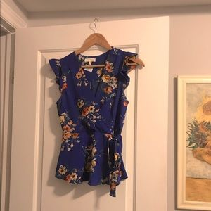 Beautiful blue & floral top